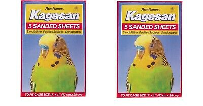 "Sand Sheets 17"" x 11"" Armitage  5 In Pack 40cm x 28cm Budgie Finch Canary"