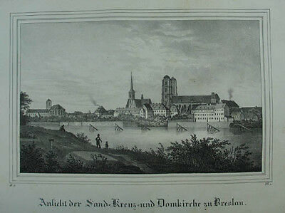 "Breslau (Wroclaw) Domkirche Lithographie aus ""Borussia"". 1839"