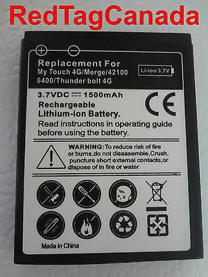 HTC MyTouch 4G/mERGE/42100 Rechargeable Lithium-ion Li-ion Battery 1500 mAh - CA