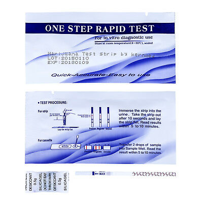 10 x Drogentest Streifen THC Cannabis Marihuana drug test by kernmed