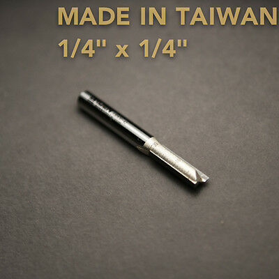 "HSS Straight Slot Router Cutter Bit 1/4"" X 1/4"" - TAIWAN Playwood"