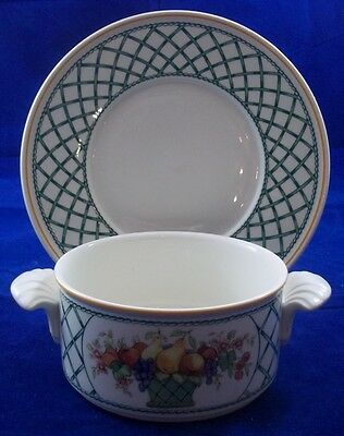 Villeroy & and Boch BASKET cream soup bowl / coupe and saucer