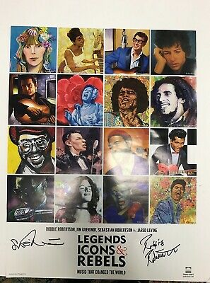 SIGNED Robbie Robertson LEGENDS ICONS & REBELS Poster