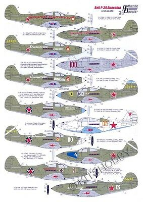 Authentic Decals 1/48 Bell P-39 Airacobra in Russia