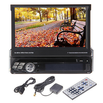 """1 Din 7"""" Android Car CD DVD Player GPS 3G WIFI Touch IPod TV SWC USB Car Stereo"""