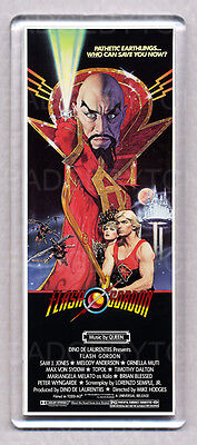 FLASH GORDON movie poster LARGE WIDE FRIDGE MAGNET - CLASSIC COOL !
