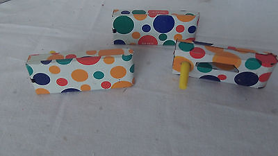 Vintage Tin Noise Makers New Years U.S. Toy Mgr Tin  Litho toy bells