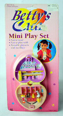 Very Rare Vintage 90'S Bettys Club Pet Dot Playset Polly Pocket New Mosc !