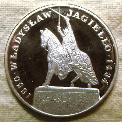 1990 Luthuania Wladyslaw Jagiello Silver Proof Medal