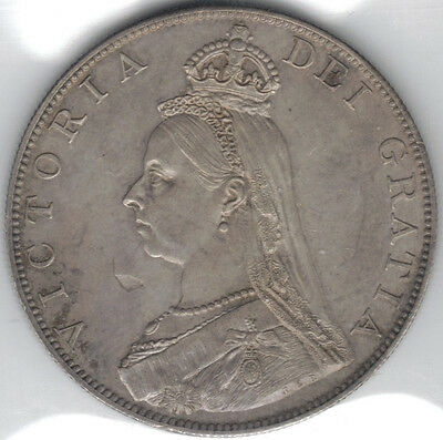 TMM* 1887 Great Britain Uncertified Silver Victoria Double Florin EF
