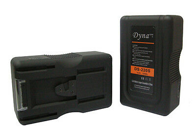 220Wh V-Mount Battery for Camcorders; Dynacore DS-220S V-Lock Battery