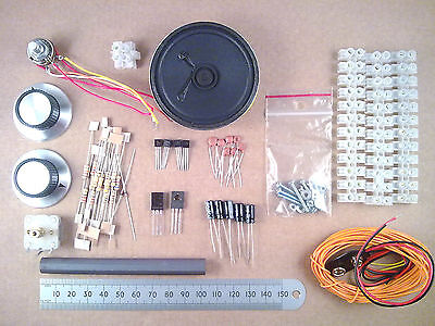 Solderless Choccy Block Six Transistor MW AM Radio Kit Of Electronic Parts ff
