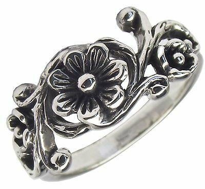 FLORAL RING 925 Sterling SILVER Various Sizes : Flower Design Ladies