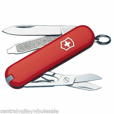 New Victorinox Swiss Army 58mm Knife  CLASSIC SD RED  7 Features   53001