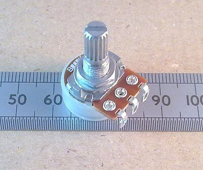 Solder Lug Connection 16mm Log Potentiometer, Mono Audio Pot