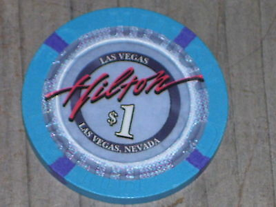 $1 8TH EDT CHIP FROM THE HILTON CASINO LAS VEGAS  NV