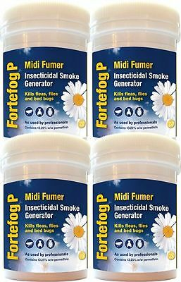 Fortefog Moth Treatment Killer Insect Smoke Fogger Midi Fumer 11G 4 Pack