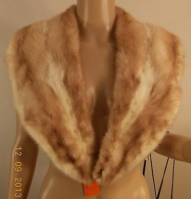 2 toned vintage mink collar add to sweater jacket coat add on look, sweater fix