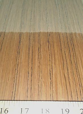 "Teak composite wood veneer 24"" x 96"" with paper backer 1/40th"" thickness (#EFW)"