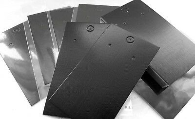 Jewellery Display Cards Earring Black Plain & Self Adhesive Bags ~ 9cm x 5cm