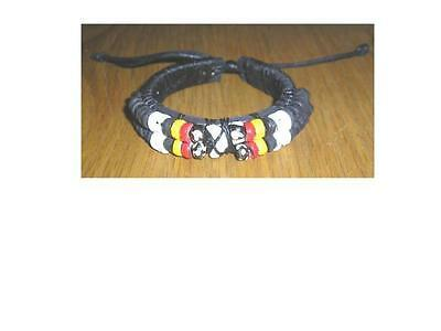 New Leather Shark Tooth Wristband Yellow/red  Beads Ethnic / Tribal High Quality