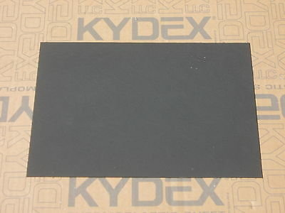 2 mm KYDEX T Sheet 300 mm x 300 mm (P-1 HAIRCELL BLACK 52000) Holster-Sheath
