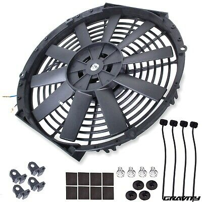 "12"" Universal Straight Blade Electric Cooling Radiator Fan Kit Car Push Pull"