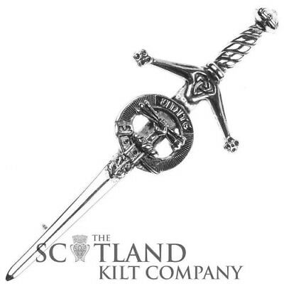 Mens Scottish Made Brodie Clan Crested Boxed Silver Kilt Pin by Art Pewter