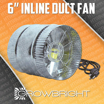 "6"" Inline Duct Fan #1 Quality On Ebay! Exhaust Booster Blower Six Inch Air Cool"