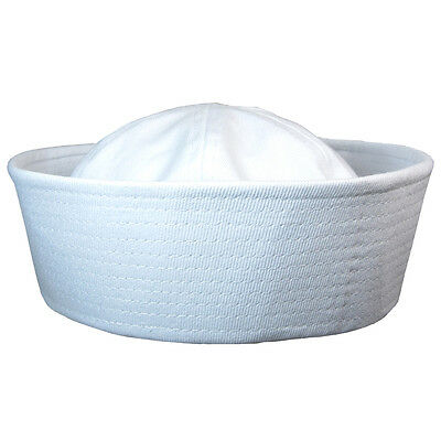 US Navy WHITE SAILOR CAP - All Sizes WW2 Repro Dixie Cup American Naval Hat