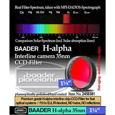"Baader H-Alpha 35nm CCD Filter for Imaging - 1.25"" # FHAL-1 2458381"