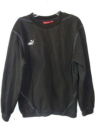 Youth Large Black Puma Pullover Sweater Athletic Casual