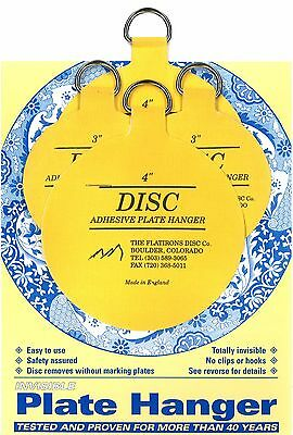 """Original Invisible Disc Adhesive Plate Hangers Set of 2x3"""" and 2x4"""""""