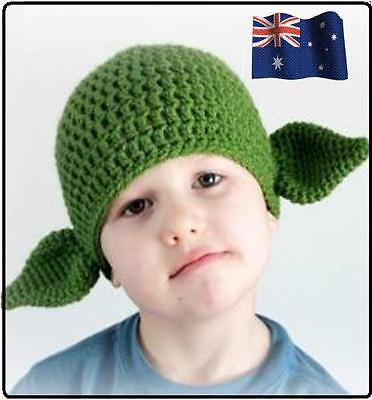 New Baby Boys Gilds Hat Beanie Yoda Green Knit Crochet Hat Beanie Cap 0-2years