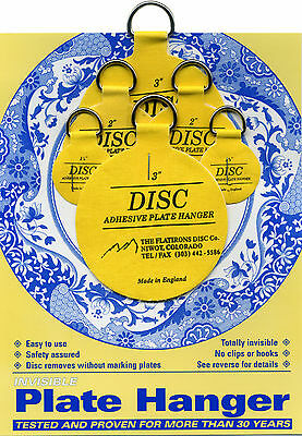 Disc Adhesive Plate Hangers Small Assorted Set of 2x125\  2x2\   sc 1 st  PicClick & Disc Adhesive Plate Hangers Small Assorted Set of 2x125\