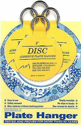 """Original Invisible Disc Adhesive Plate Hangers Set of 4x2"""""""