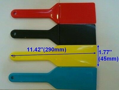 4PC Screen Printing Ink Spatulas Shovel Plastic Blade Print Ink Apply Clean Tool