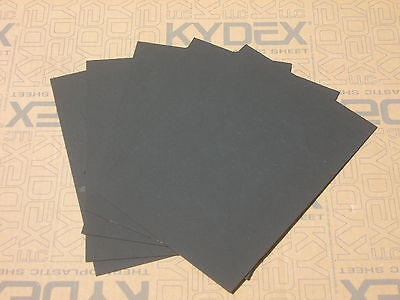 5 Pack A4 1.5mm KYDEX T Sheet 297 mm x 210 mm P-1 Haircell Black Holster Sheath