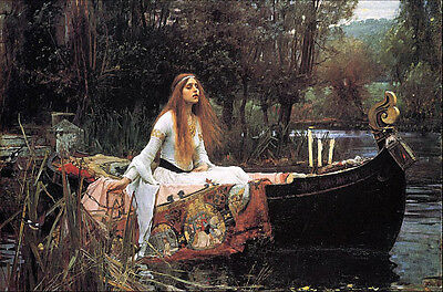 THE LADY OF SHALOTT LARGE FRIDGE MAGNET - J.W. Waterhouse CLASSIC!