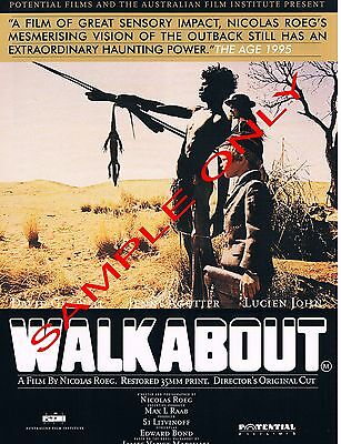 WALKABOUT - Original Australian A4 size glossy Flyer for re-release