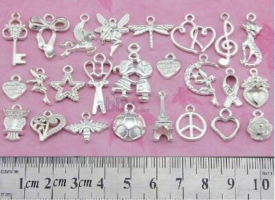 FreeShip Wholesale Lots Silver Plated Mixed Pendants Charms Choose Qty DY49