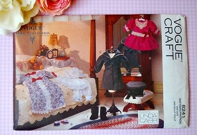 """Vogue Doll Pattern 8241 417 18"""" Girl Clothes Victorian Vintage by Linda Carr"""