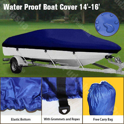 14' 15' 16' Heavy Duty Waterproof Trailerable Boat Cover 90'' Beam Width ZBT1N