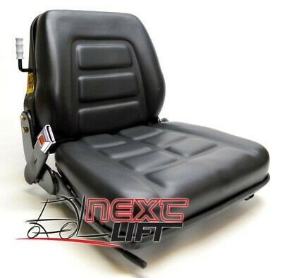 New Vinyl Forklift Suspension  Seat - Seat Belt - Seat Switch  Universal Fitment