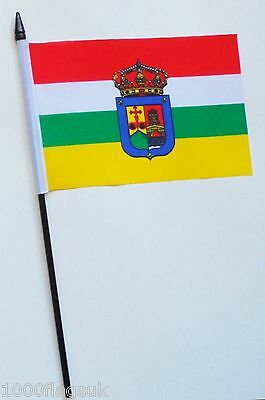 Spain La Rioja Small Hand Waving Flag