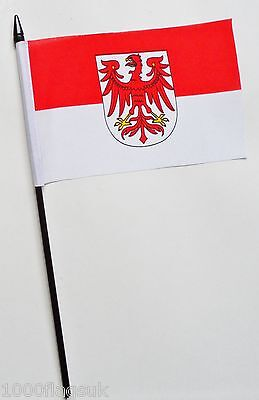 Germany Brandenburg State Small Hand Waving Flag