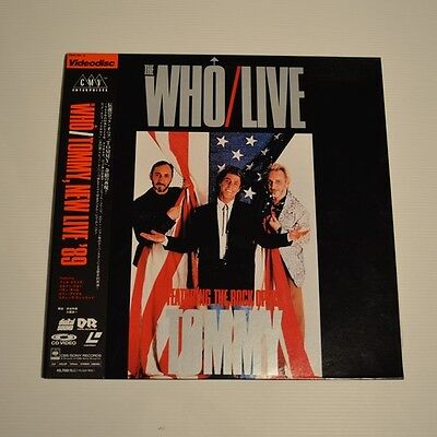 THE WHO Tommy LIVE - 1989 JAPAN 2xLASERDISC