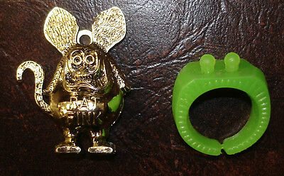 1960S GOLD RAT FINK GUMBALL RING FREE SHIPPING