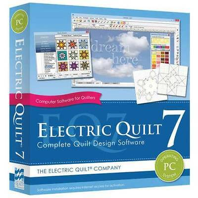 EQ7, Electric Quilt 7 ~ NEW Full Quilt Design Software Program ~ FREE Shipping!