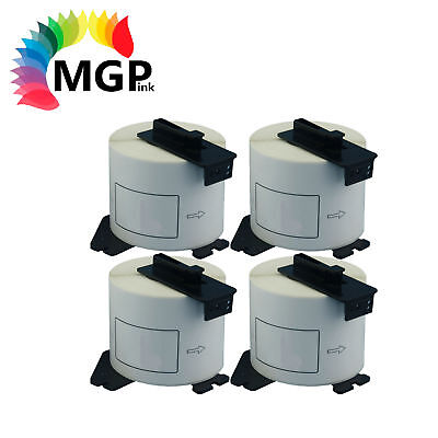 4 Compatible Brother for DK22205 Continuous Roll-62mm x 30.45m QL-720 QL1060